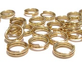 Split Key Ring Double Jump Ring Jumpring Connectors Round Gold ptd 4mm, 100 Qty