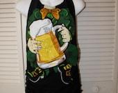 St Patricks Pattys Paddys Day drinking leprechaun costume backless tank top t shirt