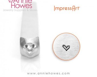 Impressart Metal Stamp  - Small Whimsy Heart Metal Stamp