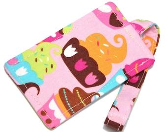 Pink Sugar Cupcake Fabric Luggage Tag Bag Tag Travel Accessories