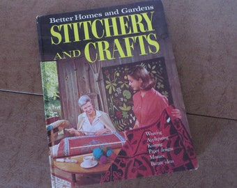 Vintage 1966 Better Homes and Gardens Stitchery and Crafts Book MCM Mid century modern crafts