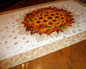Shades of the season fall table runner quilt