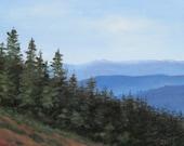 Blue Ridge Mountains, landscape, Smoky Mountains, Original painting on Canvas, blue ridge,