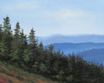 Blue Ridge Mountains, landscape, Smoky Mountains, Original painting on Canvas, blue ridge,