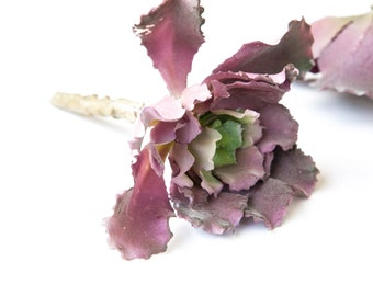 faux succulents - Ruffled Sedum Pick in Purple Green - REDUCED - Artificial Succulent, Artificial Echeveria, Fake Succulent -ITEM 01003