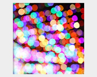 Colorful Bokeh Photo, Abstract Photography, Modern Wall Art, Bright Colors Art, Christmas Lights Photo, Colorful Wall Art, Fun Modern Art