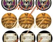 Ouija Board Magnets, Pins, or Flatbacks, Antique Ouija Boards Badges, Cabochons, Hollowbacks 12 ct. Set