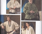 Simplicity 3519 Unisex Ultimate Historical Costume Shirt Sewing Pattern Sizes XS-XL New