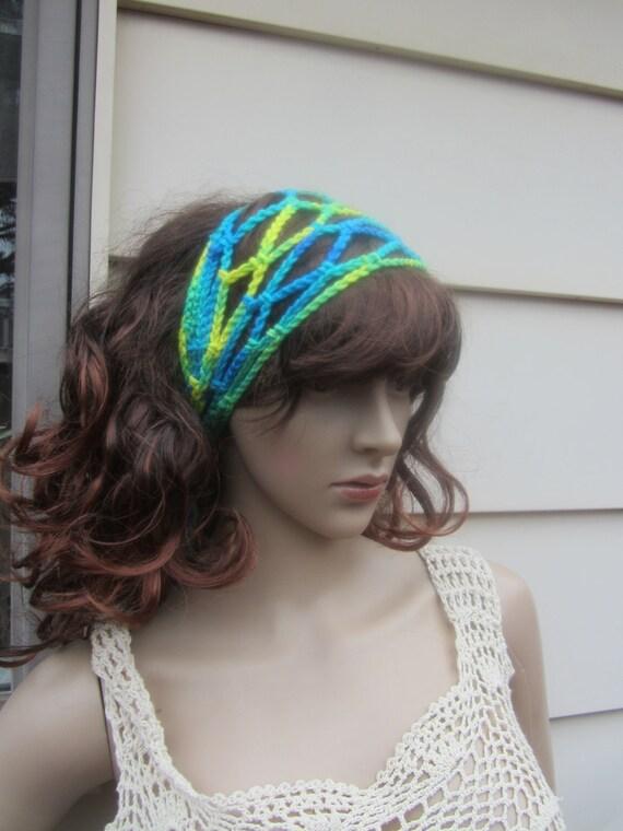 Crochet Boho Headband Gypsy Headband Festival Headband Loc