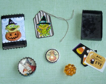 fun Frog Witch Matchbox with Goodies