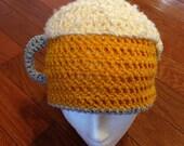 Beer hat beer beanie crochet beer mug