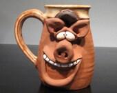 Happy Boss Hog Mug ...  Happy  Oinker .....    e772