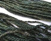 3 Ply Rug Hooking Knitting Yarn in Natural Avocado Green Mohair and Shetland Wool 15-8-1