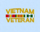 Vietnam Veteran U.S. Military machine embroidery file