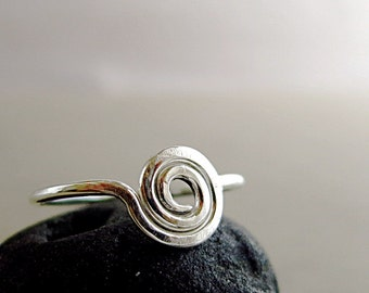 Spiral ring, Sterling Silver, circle ring, everyday jewelry