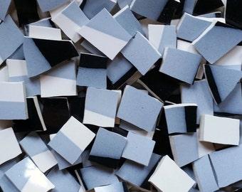 Mosaic Tiles--Grey Black White Modern -100 Count