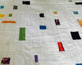Double Bed Quilt, Modern Quilt, Full Size Quilt, Large Twin Quilt, Ready To Ship