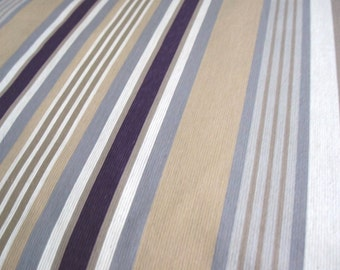 Aubergine Stripe - IKEA Benzy Rand Cotton Fabric