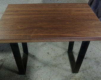 Custom Dining Table on Steel Legs