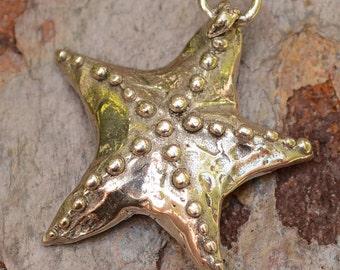Artisan Starfish Pendant, Sterling Silver Bahama Star Fish
