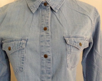 Vintage Denim Blue Jean Shirt