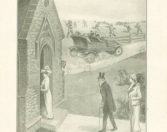 Vintage Print Satan The Devil Antique Christian Book Illustration 1911 Church Sunday Sinners