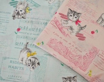 Soft Kitty - Japanese Cotton Fabric (Cosmo) - half yard