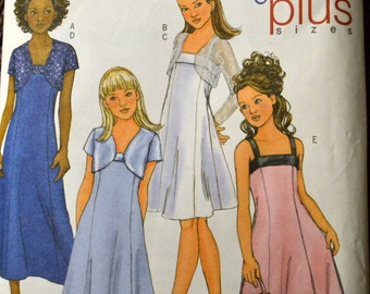 Sewing Pattern Butterick 4385 Girls' Dress and Jacket  Size 7-14 COMPLETE
