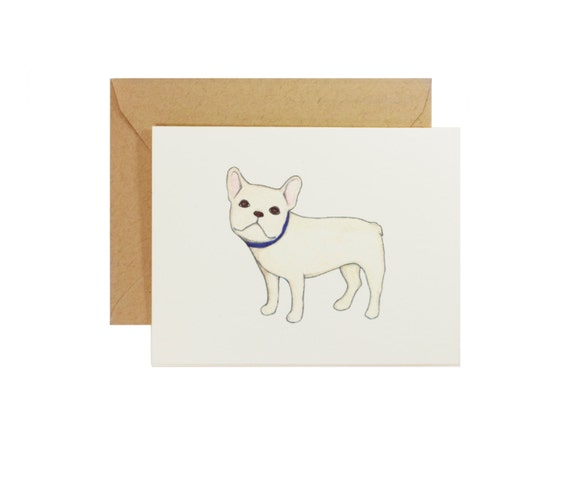 French Bulldog Greeting Card - Note Cards - Set of 8 - French Bulldog Art - Frenchie Card - Stationery Set - Blank Card - Just Because Card