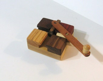 Genuine Do - Nothing Puzzle Made Of Five Woods