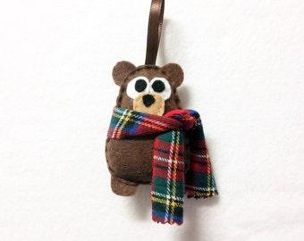 Felt Christmas Ornament - Willis the Baby Brown Bear