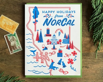 Happy Holidays from NorCal Letterpress Card