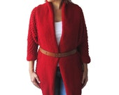 NEW! Red Pop Corn Cardigan by AFRA