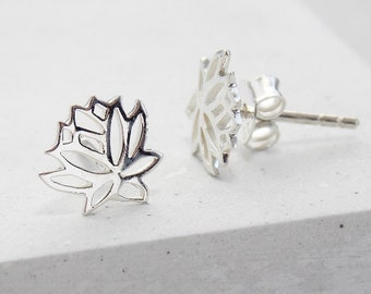Stud Earrings | Lotus Stud Earrings, Lotus Earrings, Flower Studs, Studs, Post Earrings, Post Earring, Botanical Jewelry, Flower Jewelry