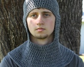 Chainmaille Coif ~ Crocheted