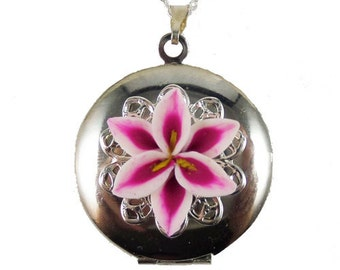 Stargazer Lily Locket Necklace Collection