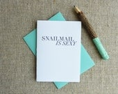 Letterpress Greeting Card - Snail Mail is Sexy - WRM-314