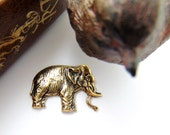Asian Elephant Antique Ox Brass Stampings - Jewelry Ornament Findings (FA-6093) #