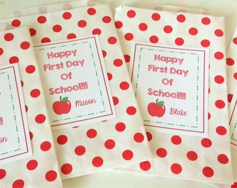 First Day of School Teacher Appreciation Back to School Printable Favor Gift Tags