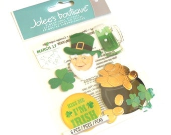 Jolees Boutique - St. Patrick's Day Embellishments - Set of 6 - BRAND NEW