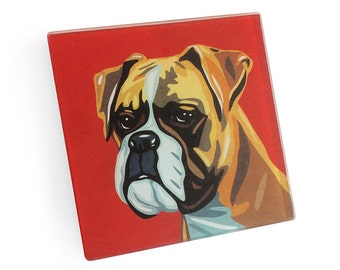 Set of 4 Boxer Coasters