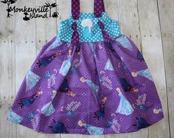 Purple sisters Knot dress Size 4