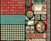 Graphic 45 A Christmas Carol Stickers 12x12