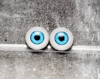 Doll eyes 9mm AD color Aquamarine