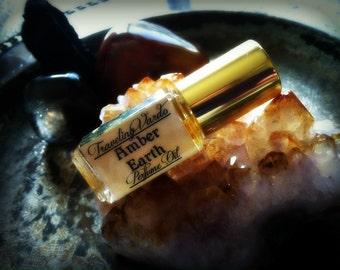 Amber Earth Perfume Oil - Natural Amber Perfume Sandalwood Perfume Frankincense Myrrh Vetiver