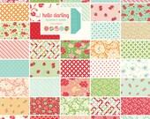 Moda HELLO DARLING Precut MINI Charm Pack Fabric Quilting Cotton Squares Bonnie & Camille 55110MC