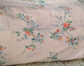 Vintage floral pink peach coral grays japanese cherry blossom branches pillowcase set KING set of TWO cottage bedding