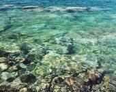 "Ocean photography - Greece photography - ocean water wall art - large wall art - aqua blue water  ""Aqua Aegean"""
