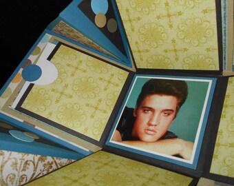 Photo Box - Elvis - blue and olive tones
