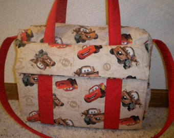 Disney CARS Diaper Bag W Change Pad By EMIJANE Free Embroidered Name